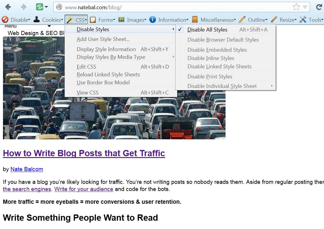 serious website traffic