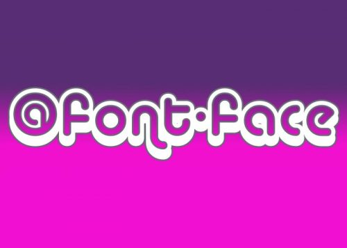 using @font-face